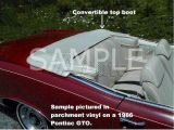 Pontiac Convertible Top Boot
